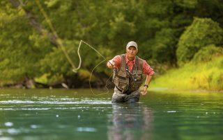 műlegyezés, legyező horgászat