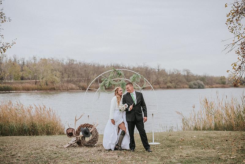 western esküvő